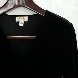Talbots | Black Velvet Dress